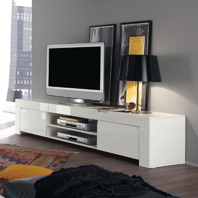 AMARETTO biała włoska szafka RTV duża wysoki połysk
