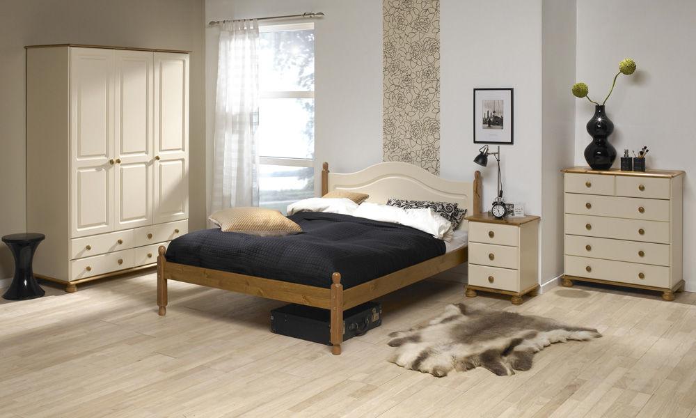 Kremowa romantyczna szafka nocna richmond for Cream furniture bedroom ideas