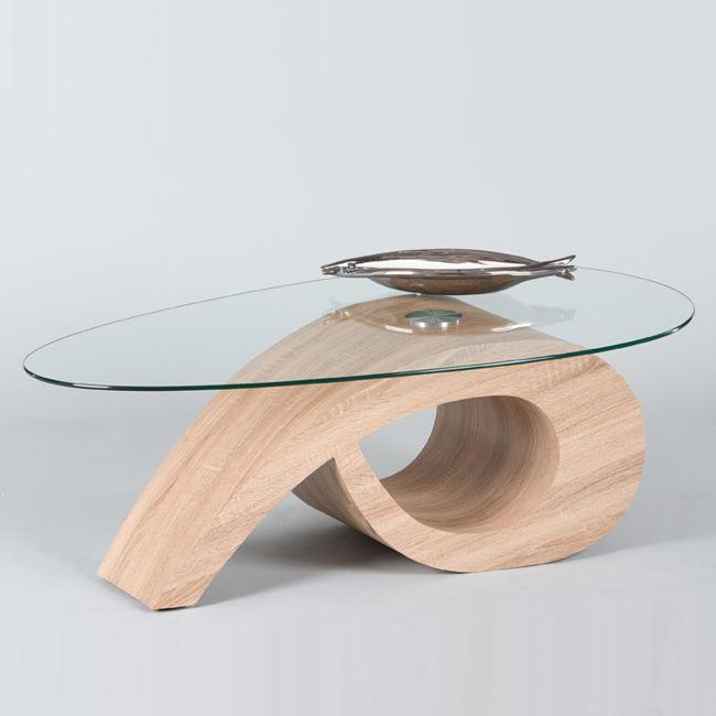Bean stolik kawowy for Table de salon bois verre versailles