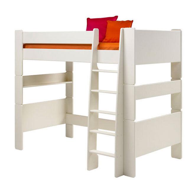 łóżko Piętrowe Pojedyncze Steens For Kids Kolor Biały Mdf