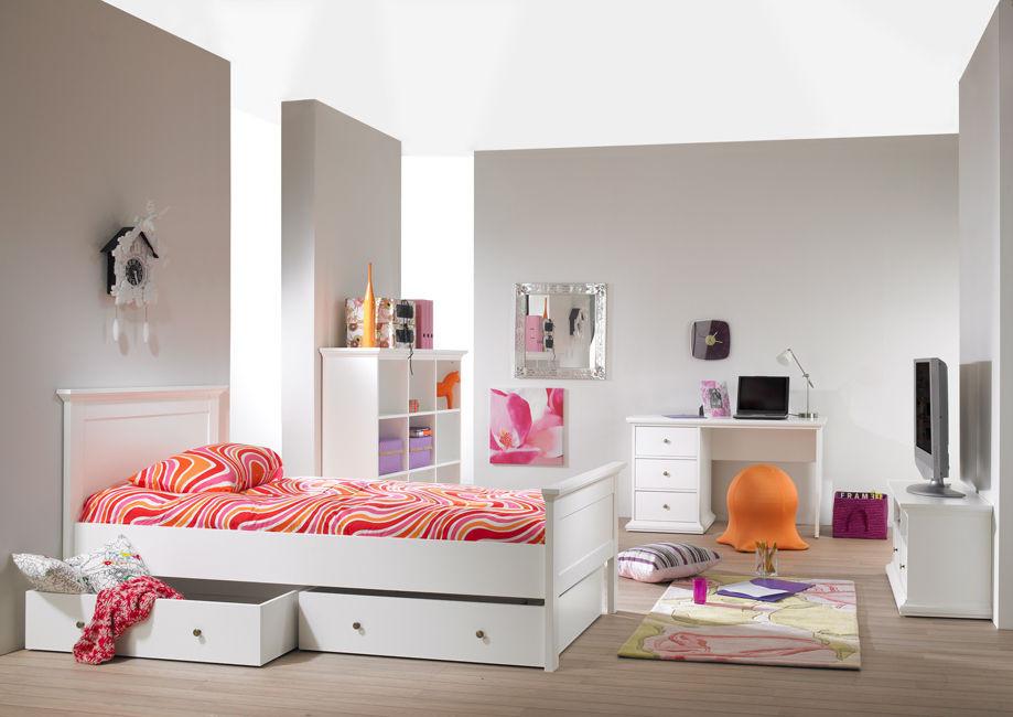 Biała Romantyczna Sypialnia Dla Dziewczynki Paris