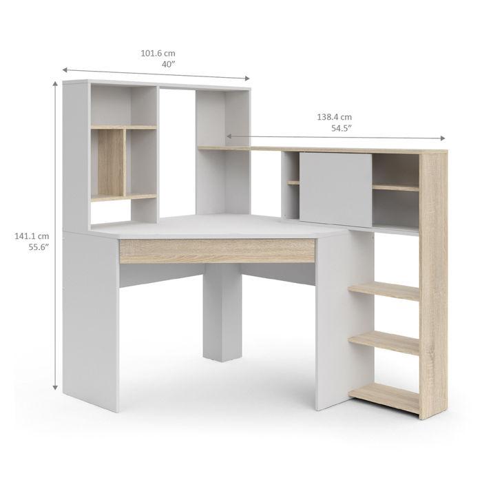 Najnowsze Function Plus biurko narożne z regałem PK97