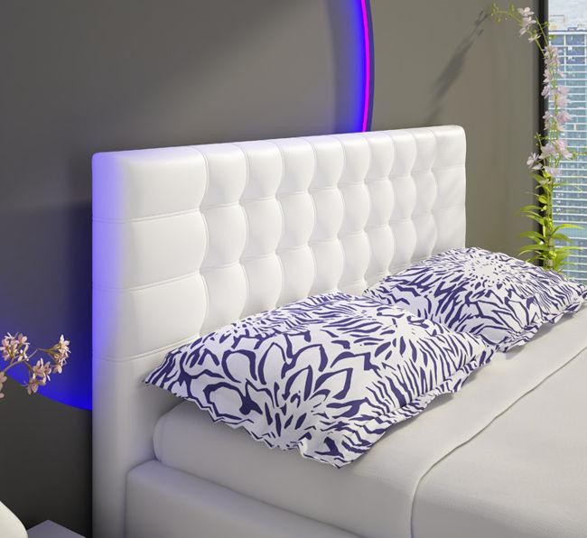 Isabelle łóżko Tapicerowane 140 Cm Z Pojemnikiem