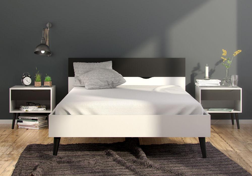 ko oslo 140 x 190 stylu retro. Black Bedroom Furniture Sets. Home Design Ideas