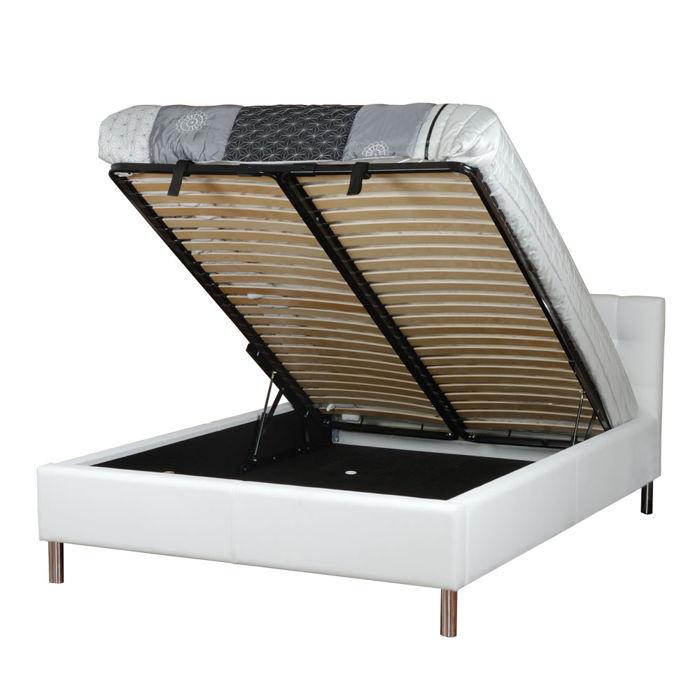 łóżko Tapicerowane 180 Cm Eva Ze Stelażem I Pojemnikiem Na